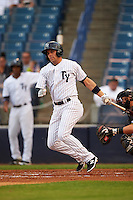 Tampa Yankees right fielder Michael O'Neill (12) at bat during a game against the Bradenton Marauders on April 11, 2016 at George M. Steinbrenner Field in Tampa, Florida.  Tampa defeated Bradenton 5-2.  (Mike Janes/Four Seam Images)