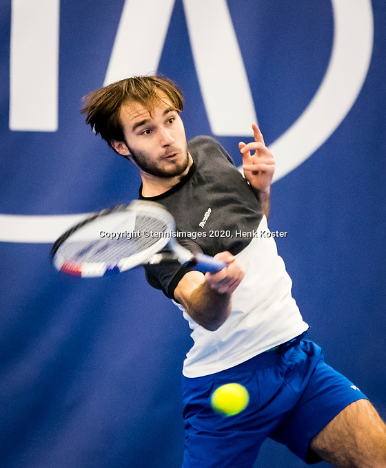 Amstelveen, Netherlands, 16  December, 2020, National Tennis Center, NTC, NK Indoor, National  Indoor Tennis Championships, : Guy den Heijer (NED) <br /> Photo: Henk Koster/tennisimages.com