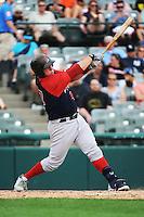 Portland Sea Dogs catcher Matt Spring (47) during game against the Trenton Thunder at ARM & HAMMER Park on June 23, 2013 in Trenton, NJ.  Portland defeated Trenton 11-0.  (Tomasso DeRosa/Four Seam Images)