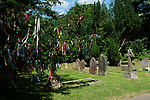 Tree dressing in Shere Surrey village church yard England 2018, 2010s UK