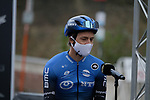 Edvald Boasson Hagen (NOR) NTT Pro Cycling at sign on before the start of the 82nd edition of Gent-Wevelgem 2020 running 232km from Ypres to Wevelgem, Belgium. 11th October 2020.  <br /> Picture: Colin Flockton   Cyclefile<br /> <br /> All photos usage must carry mandatory copyright credit (© Cyclefile   Colin Flockton)