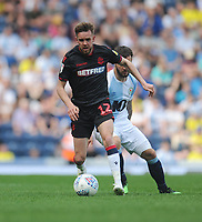 Bolton Wanderers' Craig Noone under pressure from Blackburn Rovers' Adam Armstrong<br /> <br /> Photographer Kevin Barnes/CameraSport<br /> <br /> The EFL Sky Bet Championship - Blackburn Rovers v Bolton Wanderers - Monday 22nd April 2019 - Ewood Park - Blackburn<br /> <br /> World Copyright © 2019 CameraSport. All rights reserved. 43 Linden Ave. Countesthorpe. Leicester. England. LE8 5PG - Tel: +44 (0) 116 277 4147 - admin@camerasport.com - www.camerasport.com