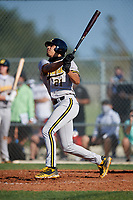Lonnie White (21) during the WWBA World Championship at Lee County Player Development Complex on October 8, 2020 in Fort Myers, Florida.  Lonnie White, a resident of Coatesville, Pennsylvania who attends Malvern Preparatory High School, is committed to Penn State.  (Mike Janes/Four Seam Images)