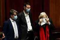 The Forza Italia deputy Vittorio Sgarbi during the information at the Lower Chamber about the Government crisis..<br /> Rome(Italy), January 18th 2021<br /> Photo Samantha Zucchi/Insidefoto