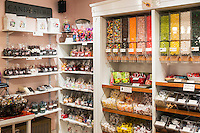 Interior of a candy store.