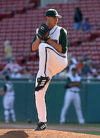 May 8, 2005:  Pitcher Jake Robbins of the Buffalo Bisons during a game at Dunn Tire Park in Buffalo, NY.  Buffalo is the International League Triple-A affiliate of the Cleveland Indians.  Photo by:  Mike Janes/Four Seam Images