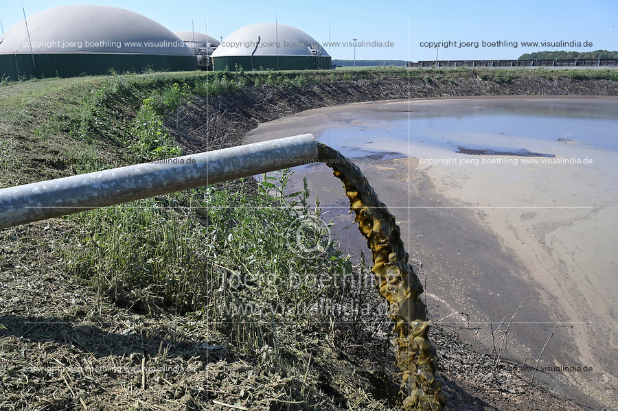 CROATIA, Osijek, dairy farm of Zito Group with biogas plant / KROATIEN, Osijek, großer Milchviehbetrieb der Zito Gruppe mit Biogasanlage, Gülle Becken