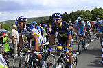 The peloton climbs the Cote De Barvaux during Stage 1 of the 99th edition of the Tour de France, running 198km from Liege to Seraing, Belgium. 1st July 2012.<br /> (Photo by Eoin Clarke/NEWSFILE)