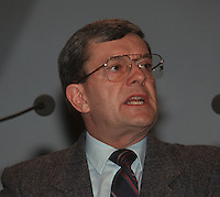 Montreal (QC) CANADA - File Photo taken between 1984 and 1999- - Jean Allaire, Leader Action Democratique du Quebec (ADQ)
