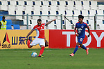 TAMPINESROVERS(SIN) FW Pennant taking a shot during match AFCCQF1 – AFC Cup 2016 Quarter Finals<br /> JSWBENGALURUFC(IND) – JSW Bengaluru FC (India)<br /> vs<br /> TAMPINESROVERS(SIN) – Tampines Rovers (Singapore)<br /> at Kanteerava Stadium, Bangalore, Karnataka on 14th Septembar 2016.<br /> Photo by Saikat Das/Lagardere Sports