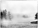 The scenery is beautiful in Yellowstone.