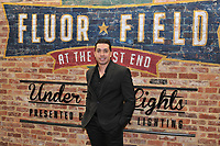 Iggy Suarez, introduced as 2018 manager of the Greenville Drive, poses for a photo during the annual Hot Stove Event to promote the upcoming baseball season on Monday, January 29, 2018, at Fluor Field at the West End in Greenville, South Carolina. (Tom Priddy/Four Seam Images)