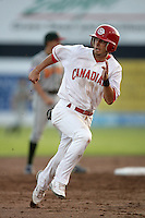 July 11 2009: Ryne Jernigan of the Vancouver Canadians during game against the Boise Hawks at Nat Bailey Stadium in Vancouver,BC..Photo by Larry Goren/Four Seam Images