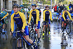 Swedish team at sign on for the start of the Women Elite Road Race of the UCI World Championships 2019 running 149.4km from Bradford to Harrogate, England. 28th September 2019.<br /> Picture: Eoin Clarke | Cyclefile<br /> <br /> All photos usage must carry mandatory copyright credit (© Cyclefile | Eoin Clarke)