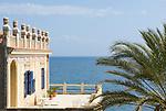 ITA, Italien, Sizilien, Liparischen Inseln, Insel Salina, Rinella: Villa am Meer | ITA, Italy, Sicily, Aeolian Islands or Lipari Islands, island Salina, Rinella: Villa with seaview