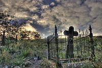 Jerome Cemetery Cross - old mining town in Arizona