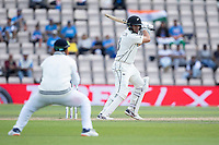 Ross Taylor, New Zealand guides the ball to wide third man for four runs during India vs New Zealand, ICC World Test Championship Final Cricket at The Hampshire Bowl on 23rd June 2021