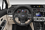 Car pictures of steering wheel view of a 2015 Subaru Impreza premium 4 Door Sedan