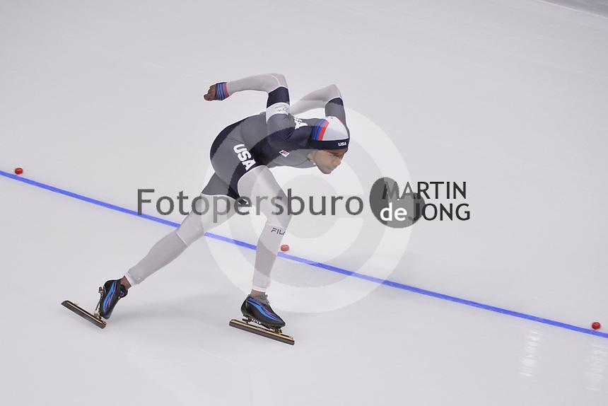 OLYMPIC GAMES: PYEONGCHANG: 23-02-2018, Gangneung Oval, Long Track, 1000m Men, Shani Davis (USA), ©photo Martin de Jong