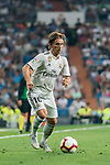 Luka Modric of Real Madrid in action during the La Liga 2018-19 match between Real Madrid and CD Leganes at Estadio Santiago Bernabeu on September 01 2018 in Madrid, Spain. Photo by Diego Souto / Power Sport Images
