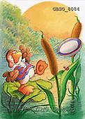 Ron, CUTE ANIMALS, Quacker, paintings, duck, rugby ball(GBSG8084,#AC#) Enten, patos, illustrations, pinturas