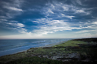 Dramatic sky and ocean along Cape Cod National Seashore, Eastham, MA, Massachusetts