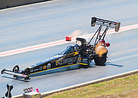 Jul 21, 2019; Morrison, CO, USA; The dragster of NHRA top fuel driver Leah Pritchett during the Mile High Nationals at Bandimere Speedway. Mandatory Credit: Mark J. Rebilas-USA TODAY Sports