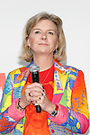 Co-curator Victoria Broackes speaks during the David Bowie Is exhibition debuts in Tokyo on January 5, 2017 in Tokyo, Japan. More than 300 items were displayed including original costumes, handwritten lyrics, photographs and films of the legendary singer who passed away on January 10, 2016 at the age of 69. Ever since its kickoff at London's Victoria and Albert Museum (V&A) in 2013, the exhibition has travelled to various cities worldwide including Paris, Berlin and Chicago. The exhibition officially opens on January 8 which would have been Bowie's 70th birthday and runs til April 9. (Photo by Rodrigo Reyes Marin/AFLO)