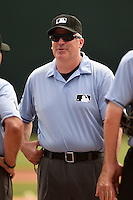 Umpire Bill Welke before a spring training game between the Boston Red Sox and Baltimore Orioles on March 23, 2014 at Ed Smith Stadium in Sarasota, Florida.  (Mike Janes/Four Seam Images)