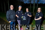 "Harry Slemon, Siobhan Dowling, Margaret Foley and Doireann Buckley from Listowel getting ready to walk from Moyvane to UHK Tralee on Saturday October 24th to walk 23 miles for ""Not all Wounds are Visible"" Mental Health Awareness."