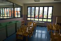 milano, nuovo quartiere rogoredo - santa giulia, periferia sud-est. un asilo nido --- milan, new district rogoredo - santa giulia, south-east periphery. a day nursery