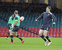 Monday 3 November 2014<br />Pictured: Sam Warburton <br />Re: Wales rugby squad train for the Dove Men series autumn internationals on the new pitch at the Millennium Stadium, Cardiff, United Kingdom.