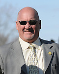 April 05, 2014:Trainer Kenny McPeek, whose filly Rosalind dead heated for the win in the $500,000 G1 Ashland S. for owner Landaluce Educe Stables and jockey Joel Rosario at Keeneland.Jessica Morgan/ESW/CSM