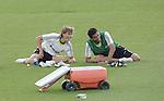 MADRID (10/08/2010).- Real Madrid training session at Valdebebas, Real Madrid City. Sergio Canales and Garay...Photo: Cesar Cebolla / ALFAQUI