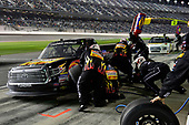 2017 Camping World Truck - NextEra Energy Resources 250<br /> Daytona International Speedway, Daytona Beach, FL USA<br /> Friday 24 February 2017<br /> Myatt Snider, makes a pit stop.<br /> World Copyright: John K Harrelson / LAT Images<br /> ref: Digital Image 17DAY2jh_05104