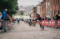 up the cobbles<br /> <br /> 2018 Binche - Chimay - Binche / Memorial Frank Vandenbroucke (1.1 Europe Tour)<br /> 1 Day Race: Binche to Binche (197km)