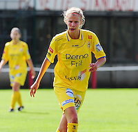 Supercup seizoen 2011 - 2012 ; Kampioen Standard Femina tegen Bekerwinnaar Waasland Beveren Sinaai Girls : Justine Vanhaevermaet.foto DAVID CATRY / Vrouwenteam.be