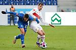 v.li.: Andrej Kramaric (Hoffenheim, 27), Pascal Stenzel (VfB, 15), Zweikampf, Spielszene, Duell, duel, tackle, tackling, Dynamik, Action, Aktion, 21.11.2020, Sinsheim  (Deutschland), Fussball, Bundesliga, TSG 1899 Hoffenheim - VfB Stuttgart, DFB/DFL REGULATIONS PROHIBIT ANY USE OF PHOTOGRAPHS AS IMAGE SEQUENCES AND/OR QUASI-VIDEO. <br /> <br /> Foto © PIX-Sportfotos *** Foto ist honorarpflichtig! *** Auf Anfrage in hoeherer Qualitaet/Aufloesung. Belegexemplar erbeten. Veroeffentlichung ausschliesslich fuer journalistisch-publizistische Zwecke. For editorial use only.