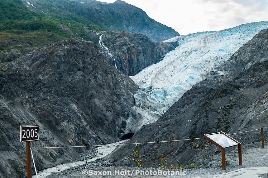 Timeline of receding glacier, Exit Glacier on Kenai Peninsula, Alaska