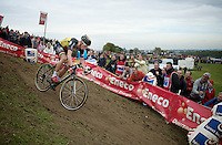 Belgian Champion Sven Nys (BEL/Crelan-AAdrinks) in the lead<br /> <br /> GP Mario De Clercq 2014<br /> Hotond Cross<br /> CX BPost Bank Trofee - Ronse