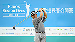 TAIPEI, TAIWAN - NOVEMBER 19:  Shih-ju Chi of Taiwan tees off on the 10th hole during day two of the Fubon Senior Open at Miramar Golf & Country Club on November 19, 2011 in Taipei, Taiwan. Photo by Victor Fraile / The Power of Sport Images