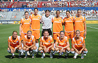 Skyblue FC starting XI. The Skyblue FC defeated the Washington Freedom 2-1 in first round of WPS playoffs at the Maryland Soccerplex, Saturday, August 15, 2009.