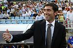 Zaragoza's coach Marcelino Garcia during La Liga match. September 27 2009. (ALTERPHOTOS/Acero).