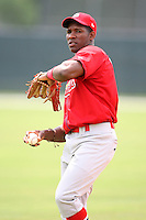 April 14, 2009:  Rainel Rosario of the St. Louis Cardinals extended spring training team during a game at Roger Dean Stadium Training Complex in Jupiter, FL.  Photo by:  Mike Janes/Four Seam Images