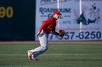Palm Beach Cardinals left fielder Shane Billings (7) during a game against the Florida Fire Frogs on May 1, 2018 at Osceola County Stadium in Kissimmee, Florida.  Florida defeated Palm Beach 3-2.  (Mike Janes/Four Seam Images)