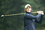 Anne-Lise Caudal of France tees off at the 15th hole during Round 2 of the World Ladies Championship 2016 on 11 March 2016 at Mission Hills Olazabal Golf Course in Dongguan, China. Photo by Victor Fraile / Power Sport Images