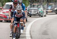 Kenny Elissonde (FRA/Trek - Segafredo)<br /> <br /> 73rd Critérium du Dauphiné 2021 (2.UWT)<br /> Stage 7 from Saint-Martin-le-Vinoux to La Plagne (171km)<br /> <br /> ©kramon
