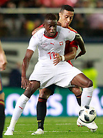 Spain's Thiago Alcantara (r) and Switzerland's Denis Zakaria during international friendly match. June 3,2018.(ALTERPHOTOS/Acero) /NortePhoto.com