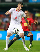 Spain's Thiago Alcantara (r) and Switzerland's Haris Seferovic during international friendly match. June 3,2018.(ALTERPHOTOS/Acero) /NortePhoto.com