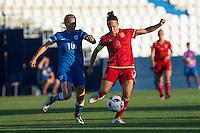 Finland's Emmi Alanen and Spain's Veronica Boquete during the match of  European Women's Championship 2017 at Leganes, between Spain and Finland. September 20, 2016. (ALTERPHOTOS/Rodrigo Jimenez) NORTEPHOTO